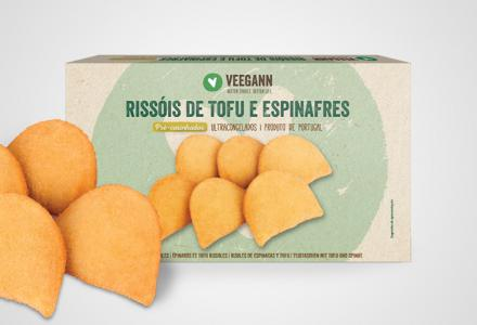 Spinach and tofu rissoles - Precooked vegan food